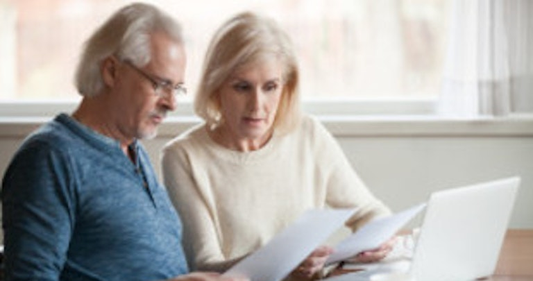 Middle-aged couple about to make a complaint about their energy supplier