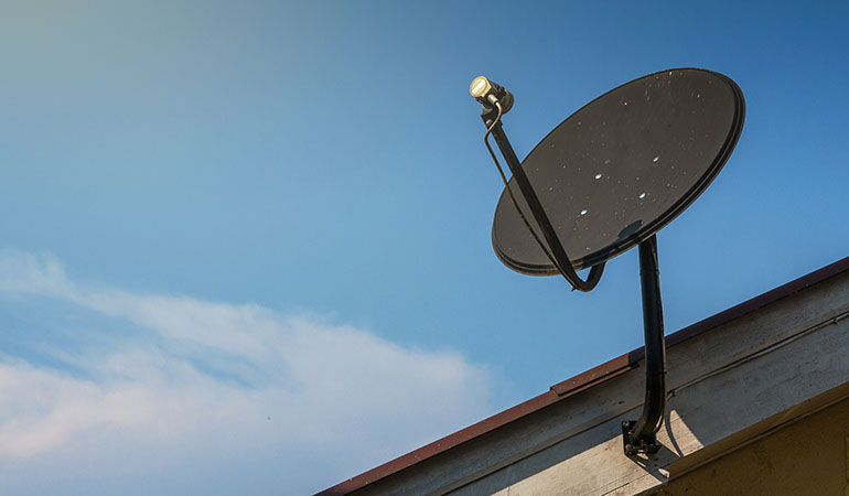 satellite dish for broadband