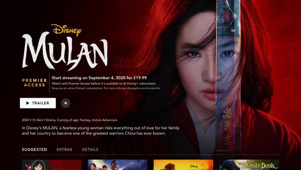 Mulan available exclusively on Disney Plus for just £19.99
