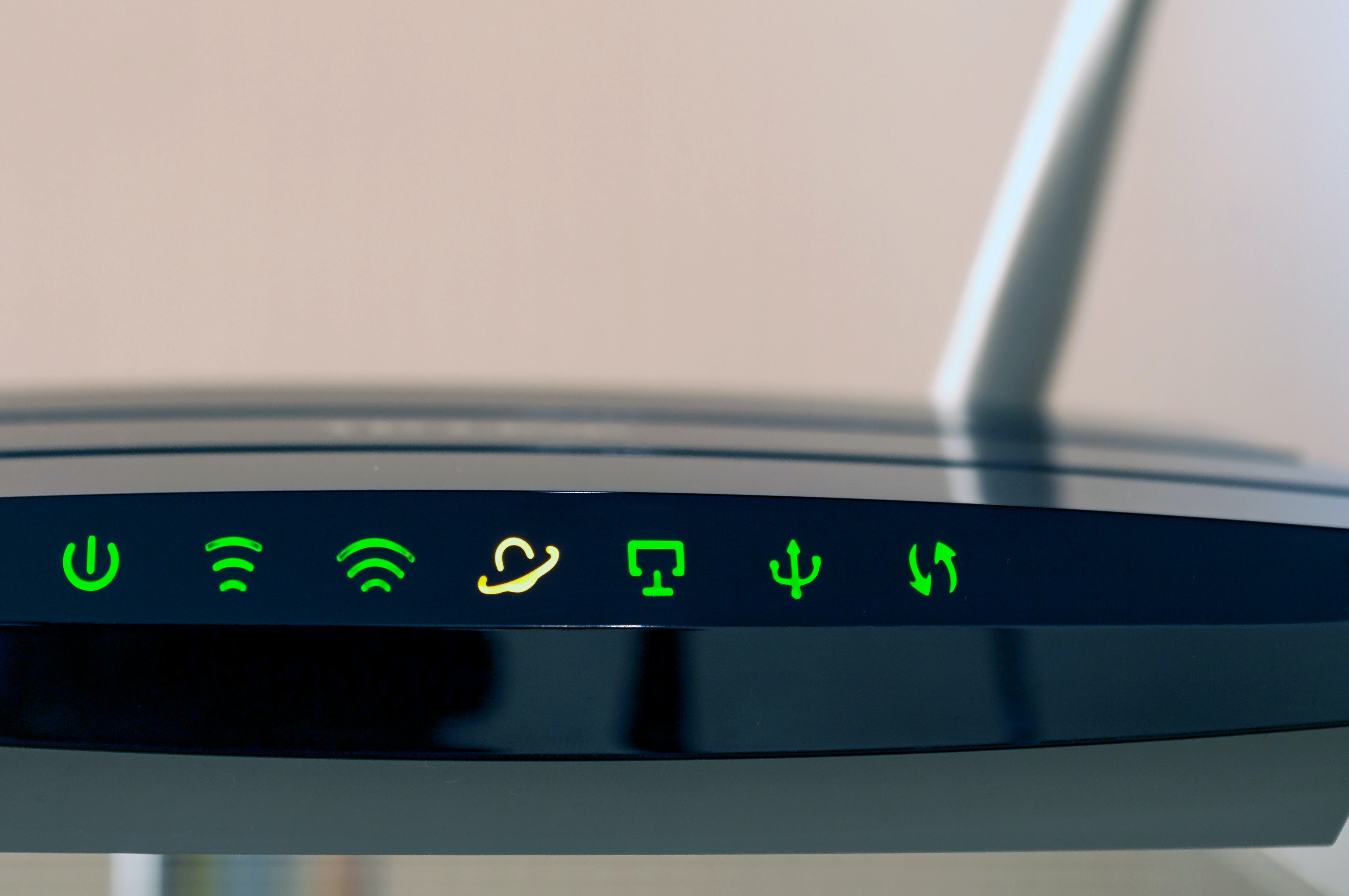 Closeup of Wi-Fi router