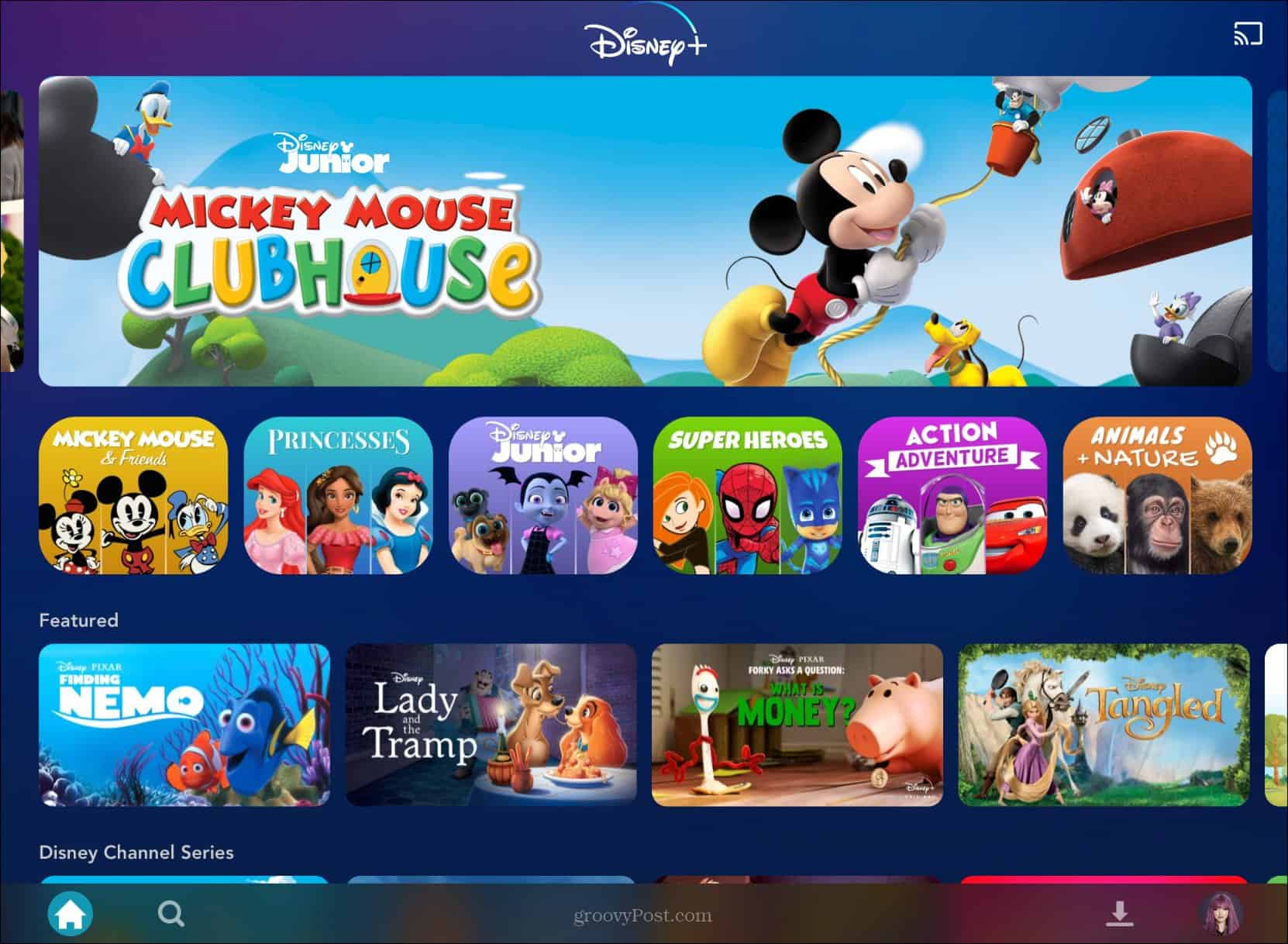 Disney Plus kids shows Mickey Mouse Clubhouse