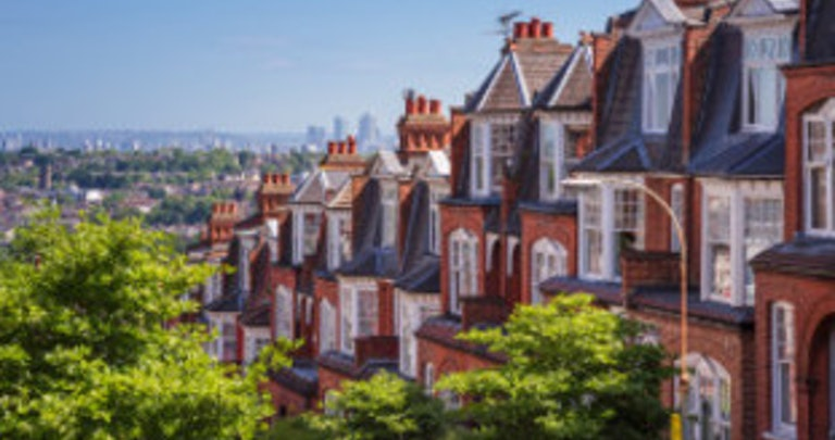 Row of houses that have switched energy despite myths