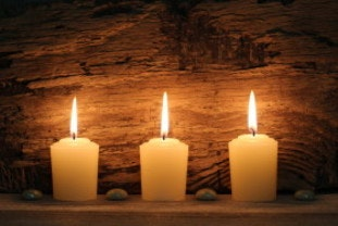 Candles used during a power cut