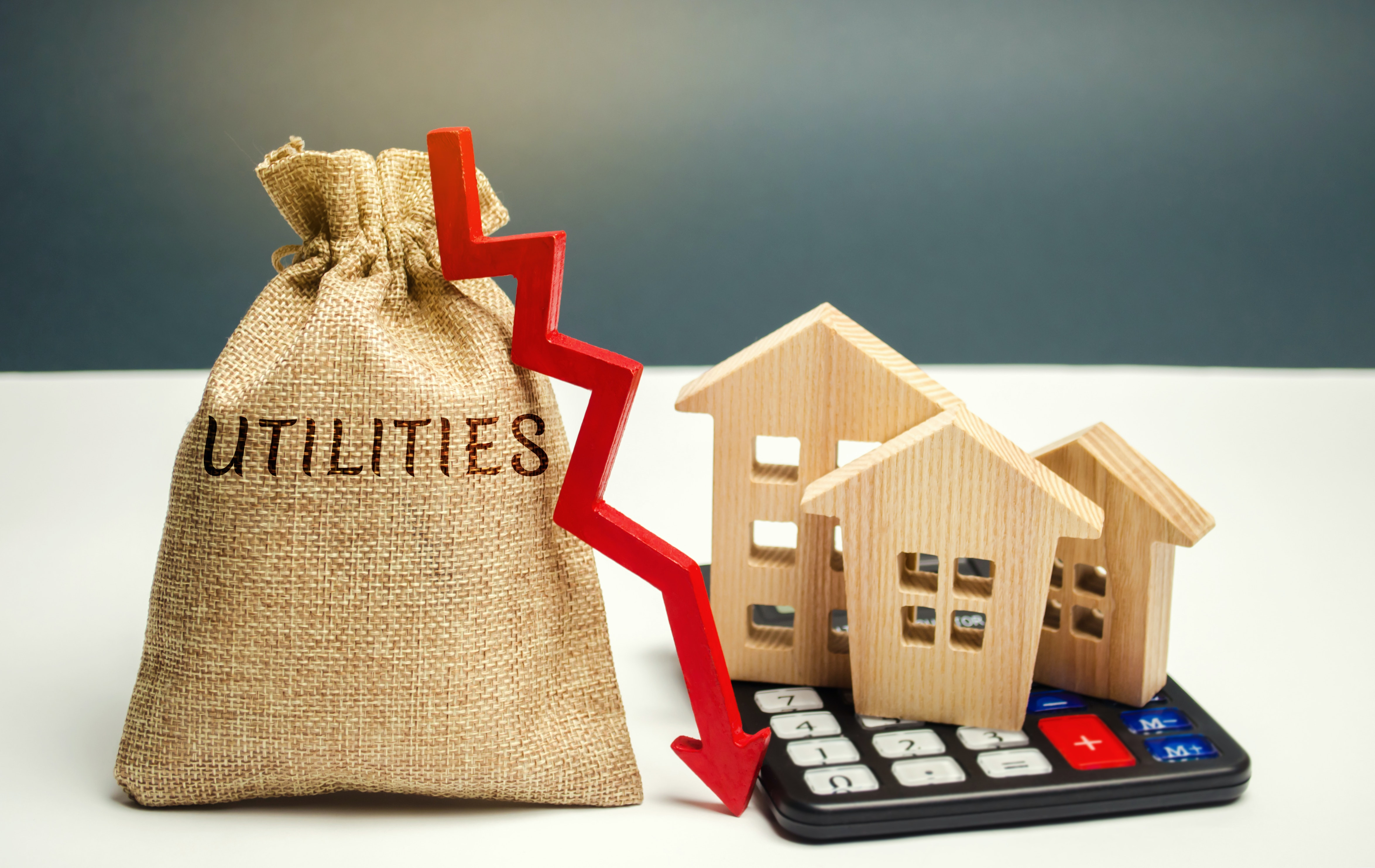 Representation of utility costs fluctuating for households
