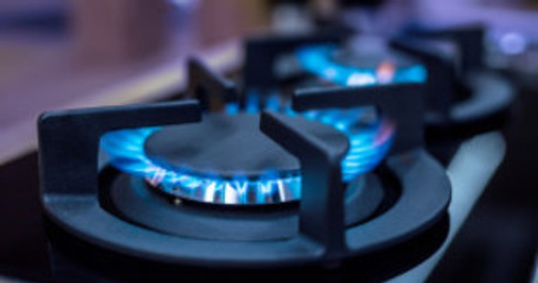 Gas used for cooking and tracked on meter