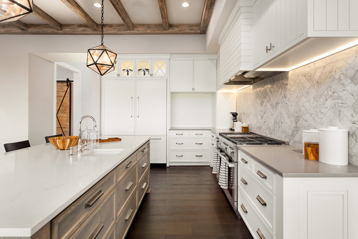 A dream kitchen like the one pictured could be one way to add value to your home.