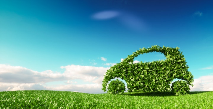 Green driving image