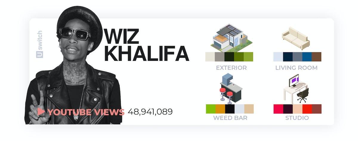 Wiz Khalifa colour palette
