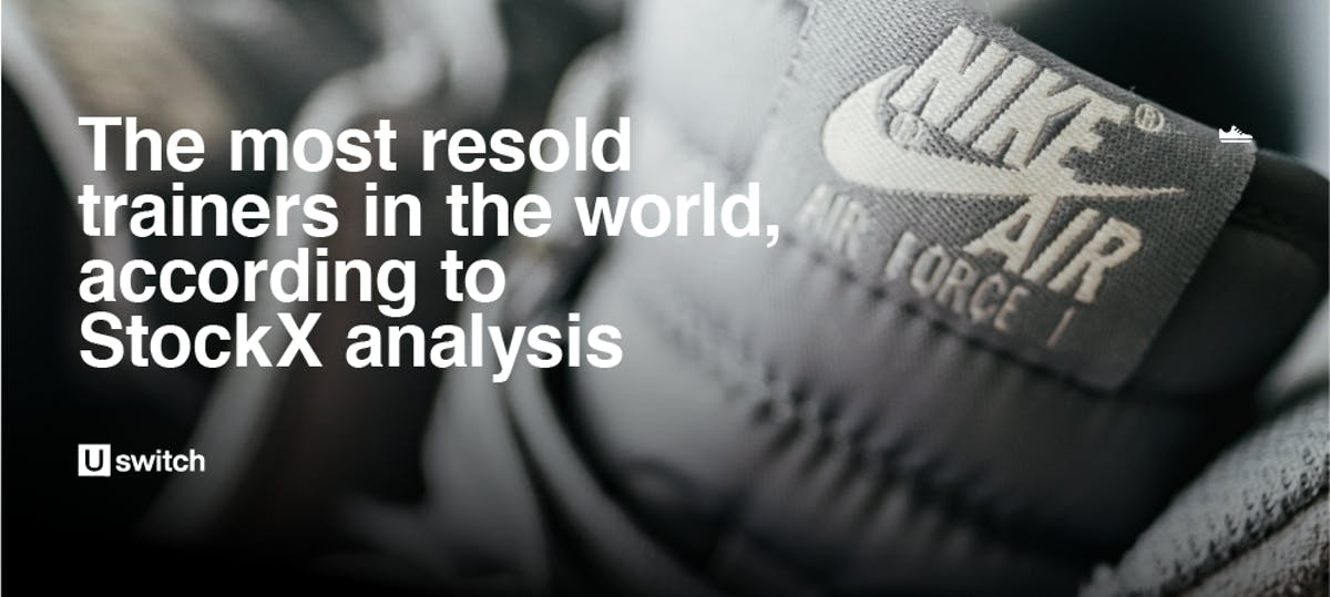 Most resold trainers in the world header image.