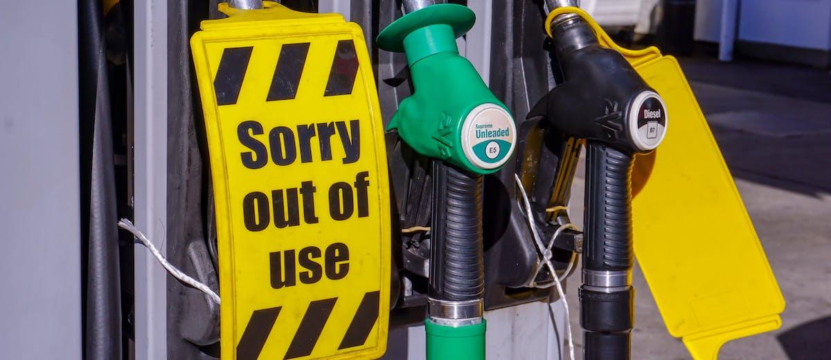 Petrol pump with no petrol
