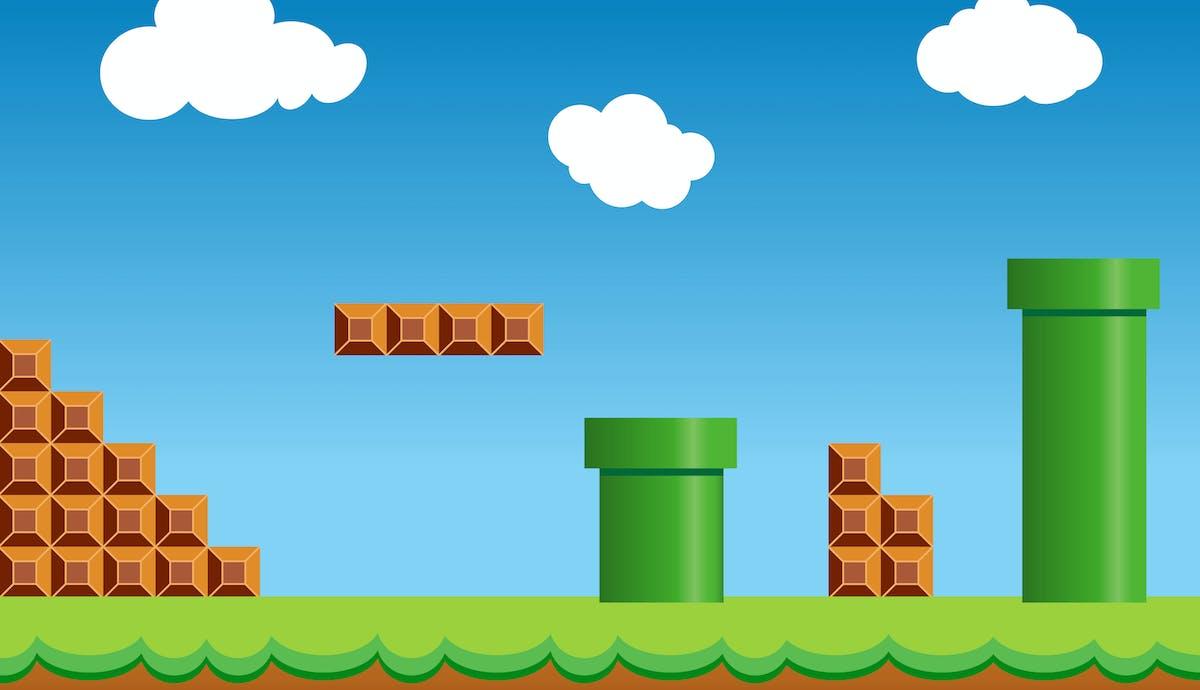Retro Mario game
