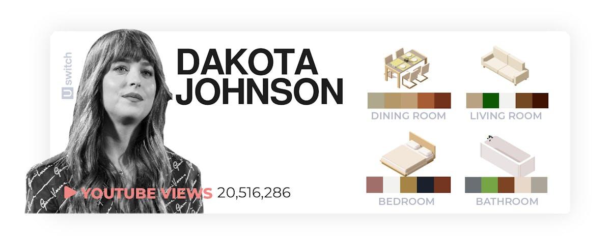 Dakota Johnson colour palette