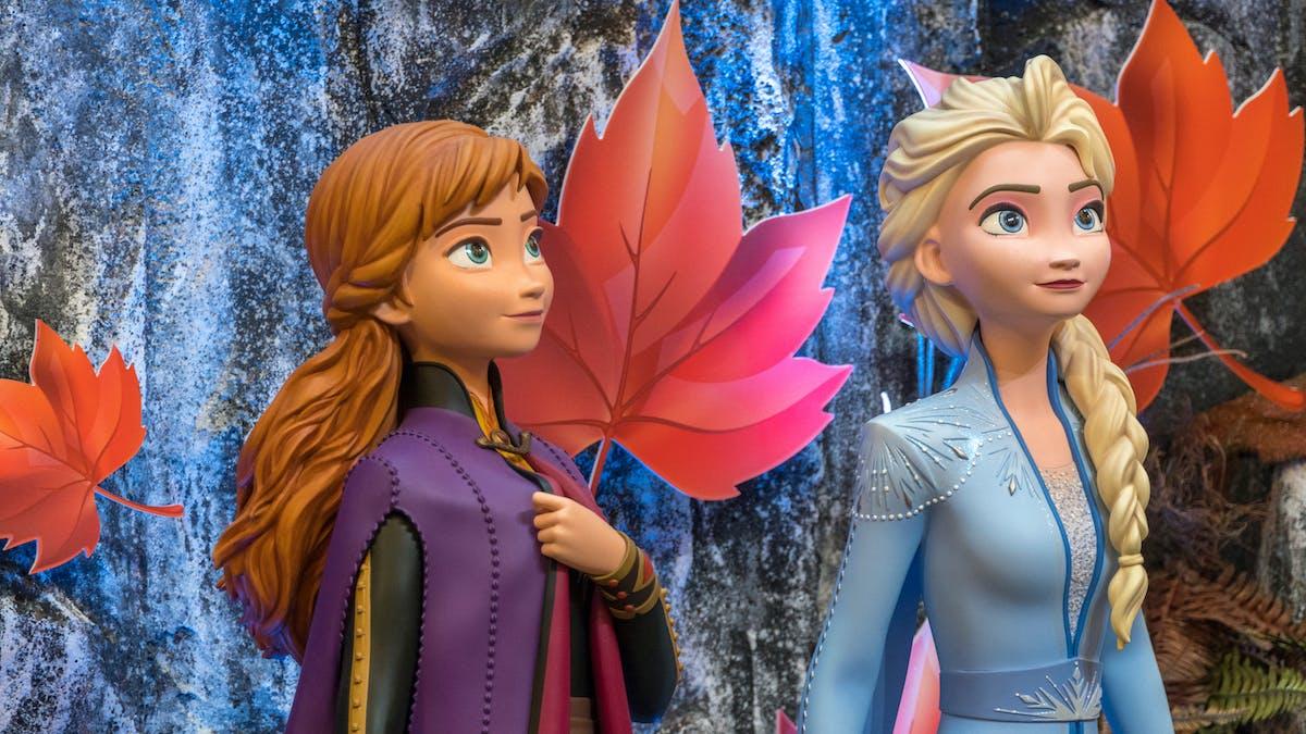 Elsa from Disney's Frozen in nature