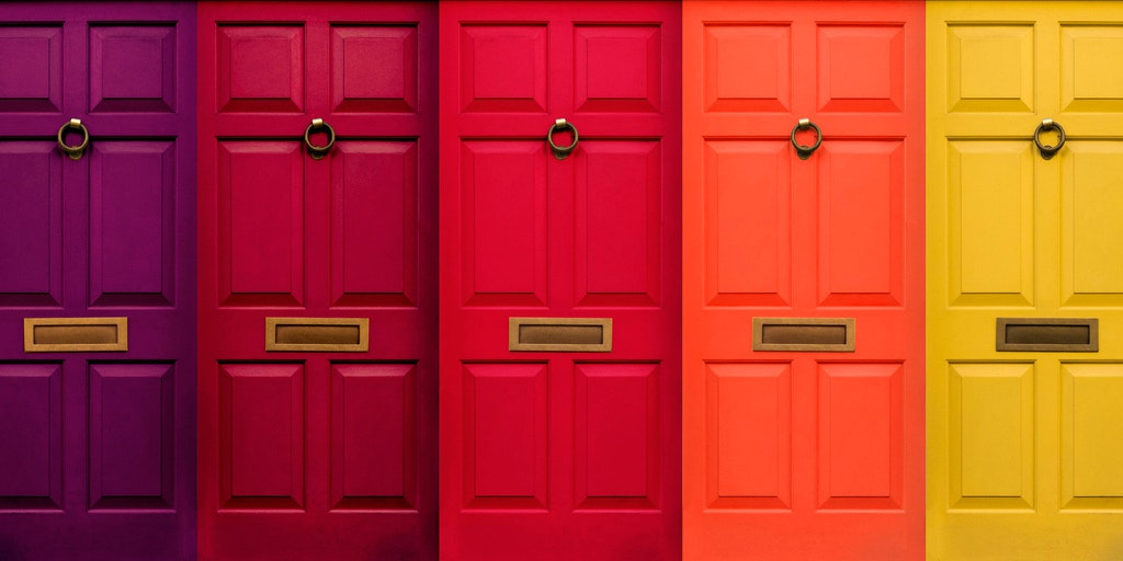 coloured doors