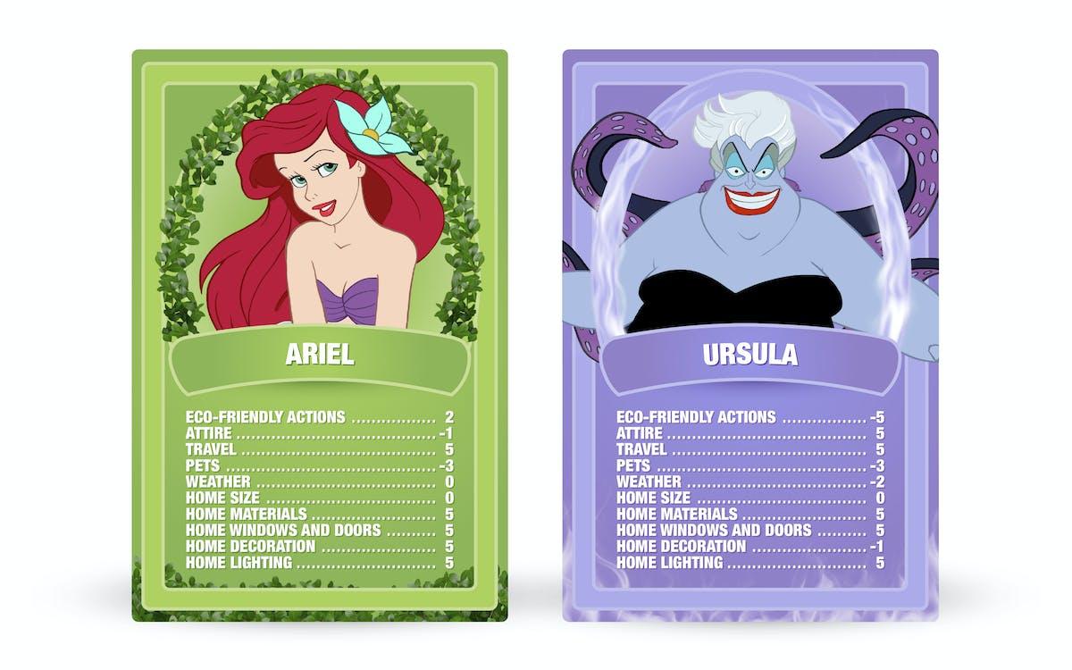 The Little Mermaid: Ariel vs. Ursula Top Trumps cards