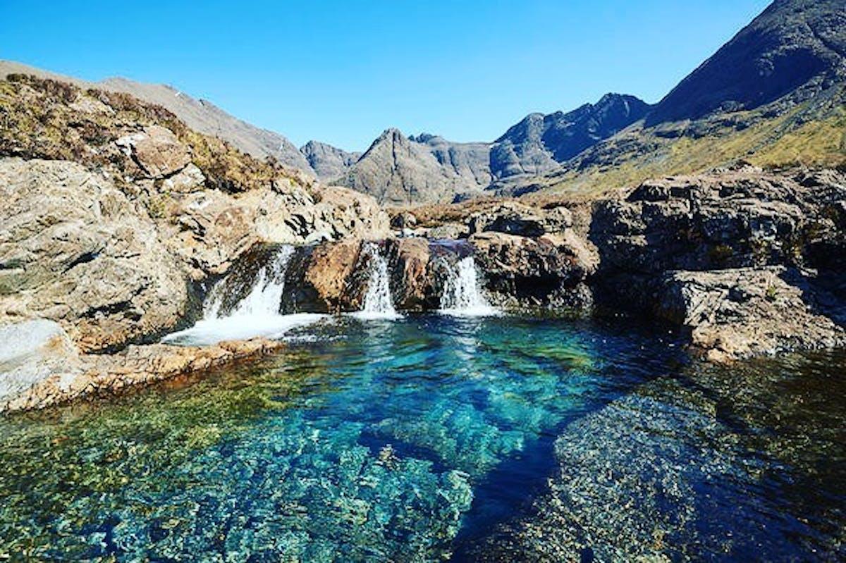 Natural pool on the Isle of Skye.