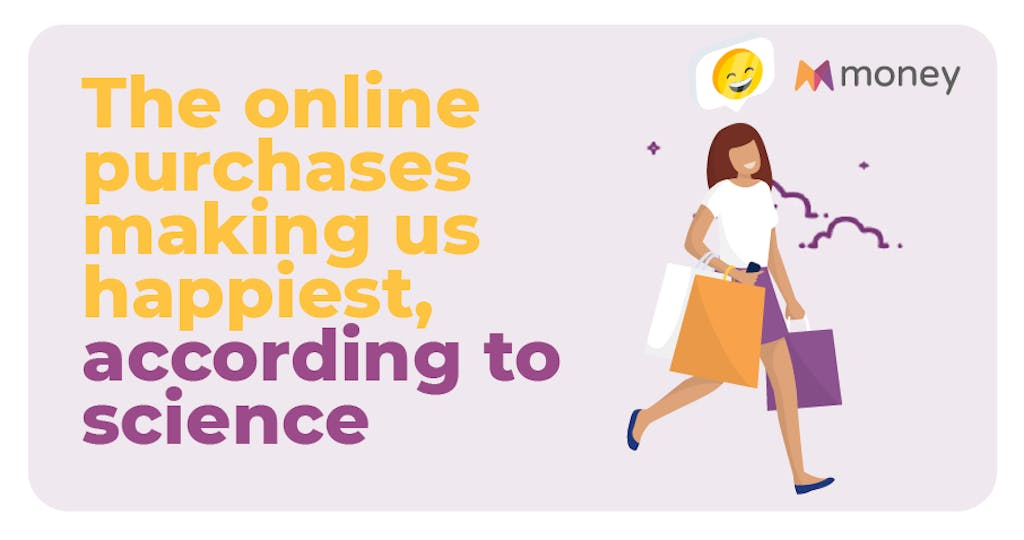 Header graphic for the online purchases making us happiest, according to science