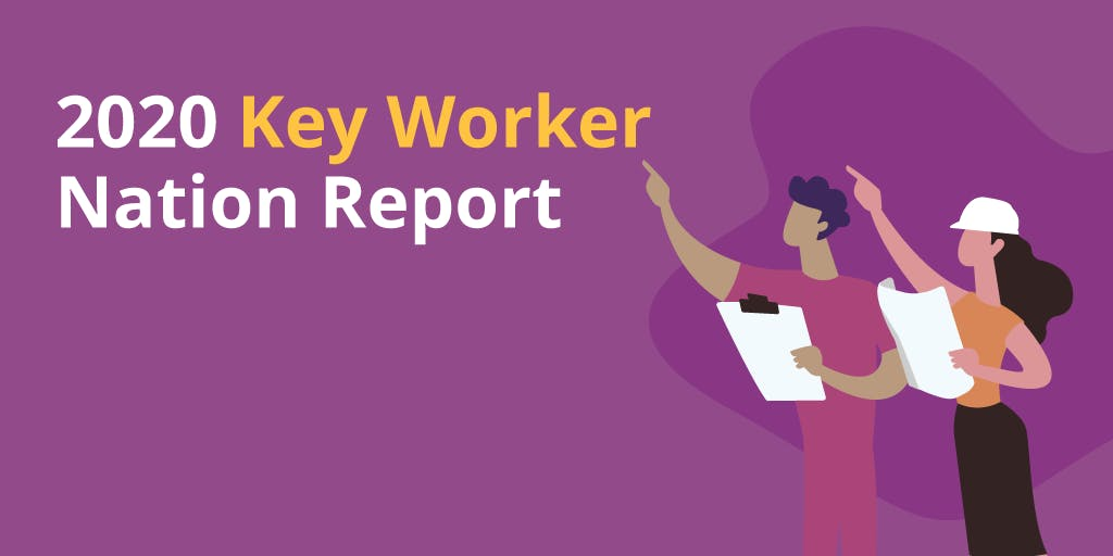 Graphic of 2020 Key Worker Nation Report