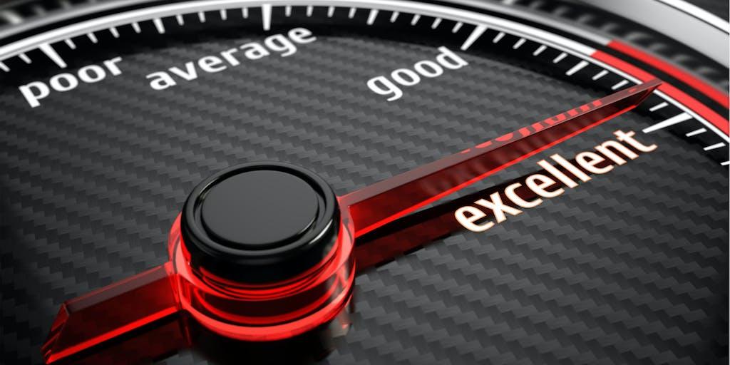 Black and red scoring gauge