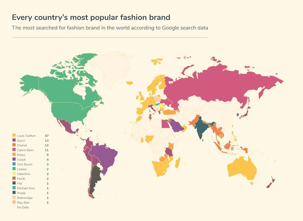 Graphic fashion searches - world map