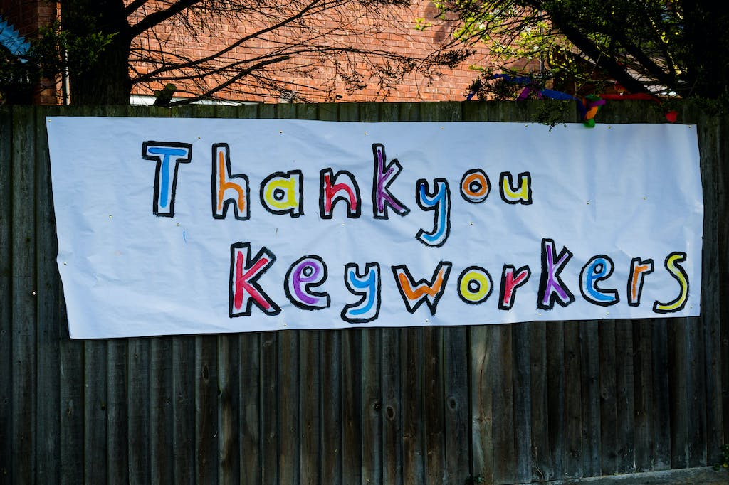 Photo of tribute to key workers