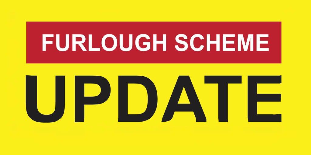 Furlough scheme update written in text
