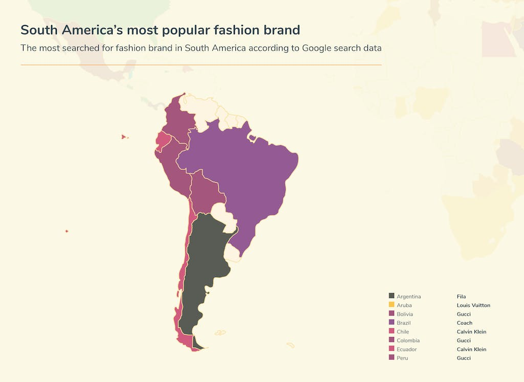 Graphic fashion searches - South America