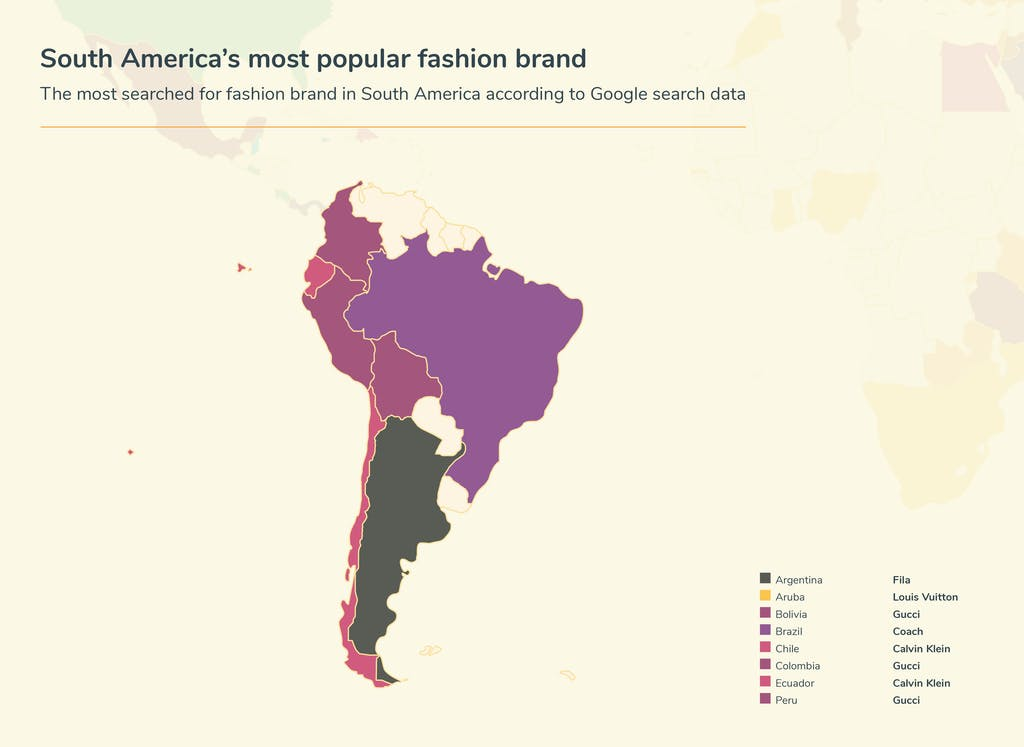 Graphic fashion searches - South America