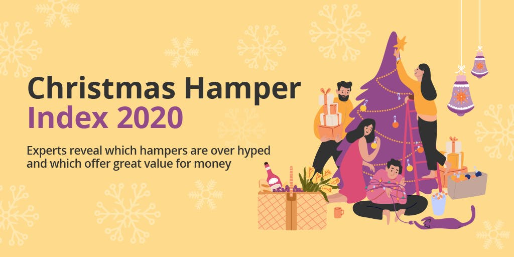 A graphic which reads: Christmas Hamper Index 2020