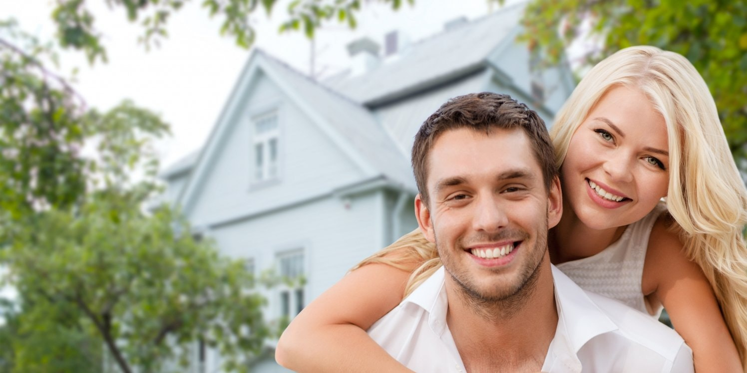 Smiling coupler outside home