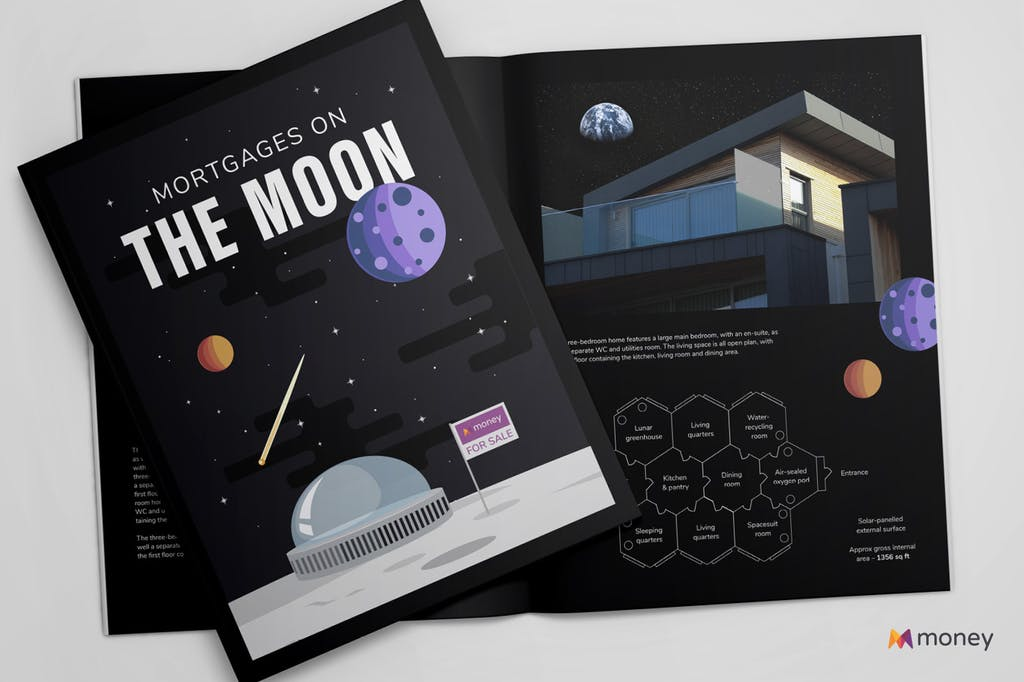 Meta image: Mortgages on the Moon brochure