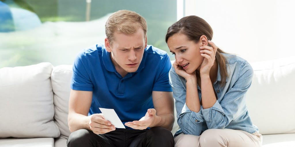 Couple with debts