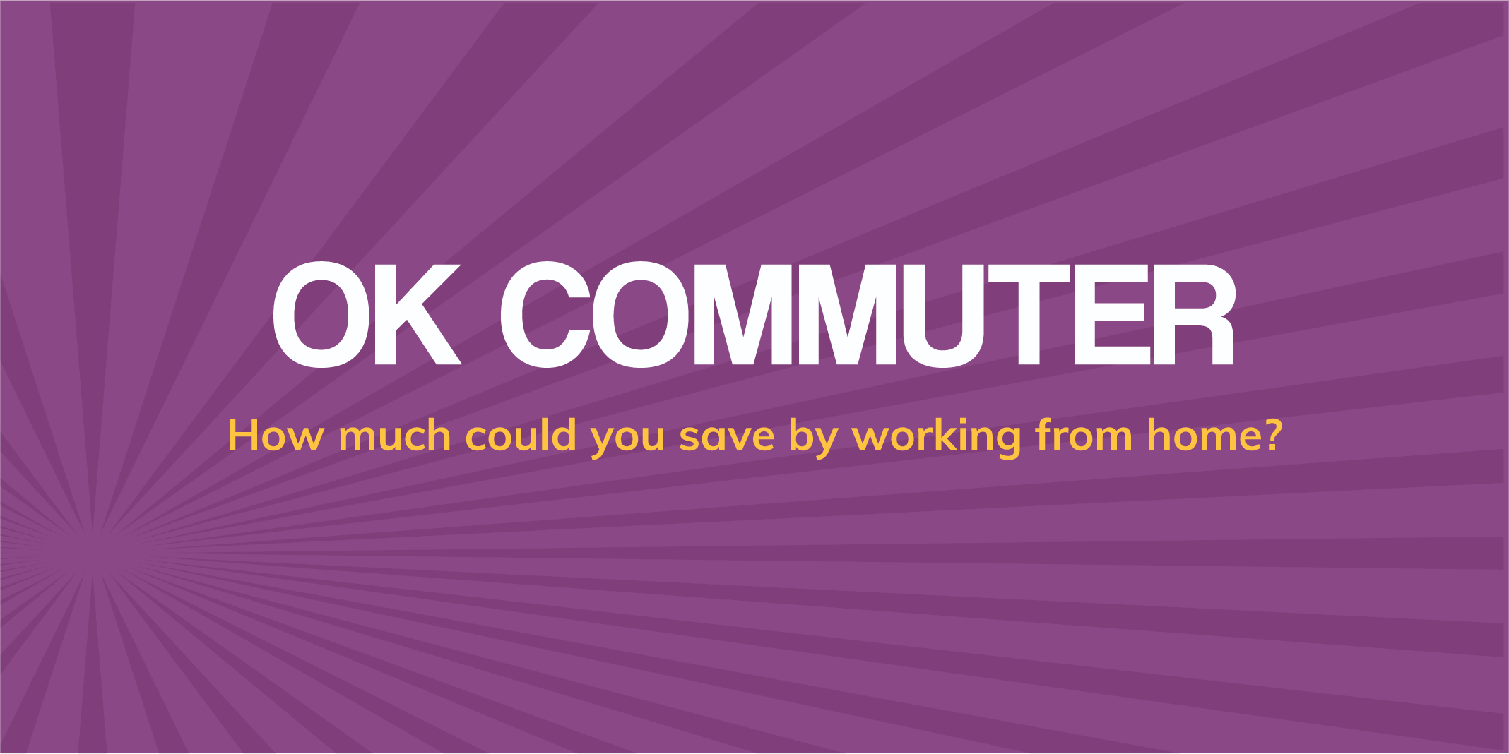 Graphic with words OK Commuter
