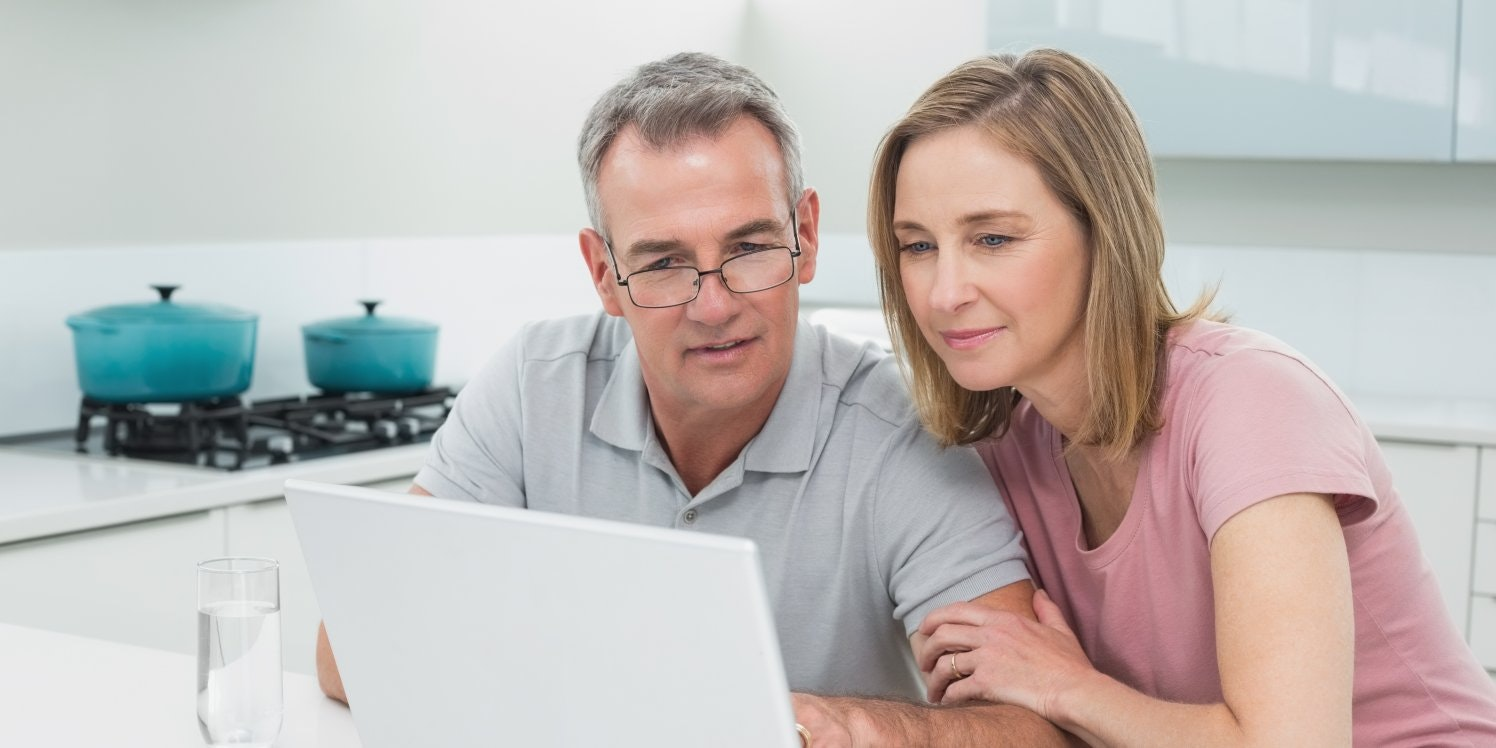 Middle aged couple choosing energy supplier