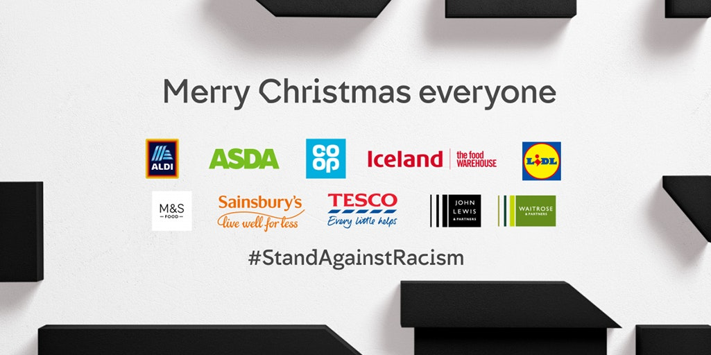 Image of anti-racism advert from Channel 4 #StandAgainstRacism