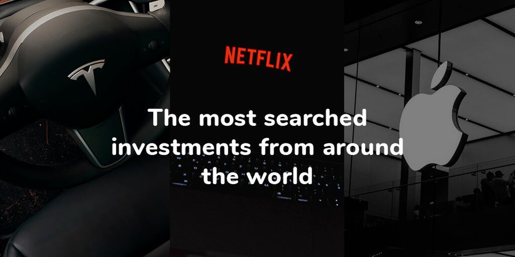Header image of the most searched investments from around the world