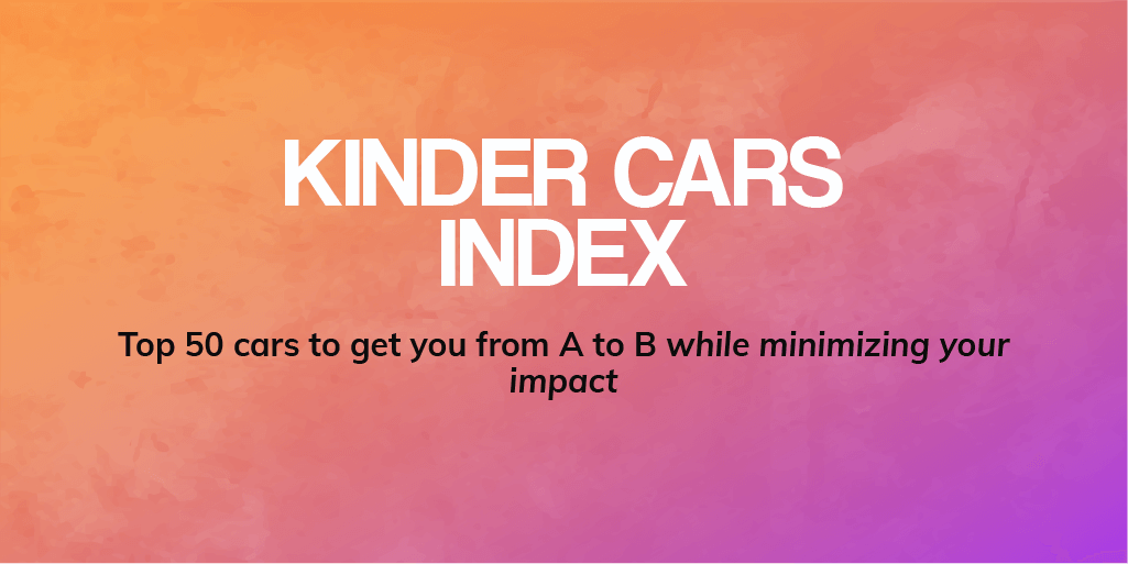 Image of Kinder Cars Index header