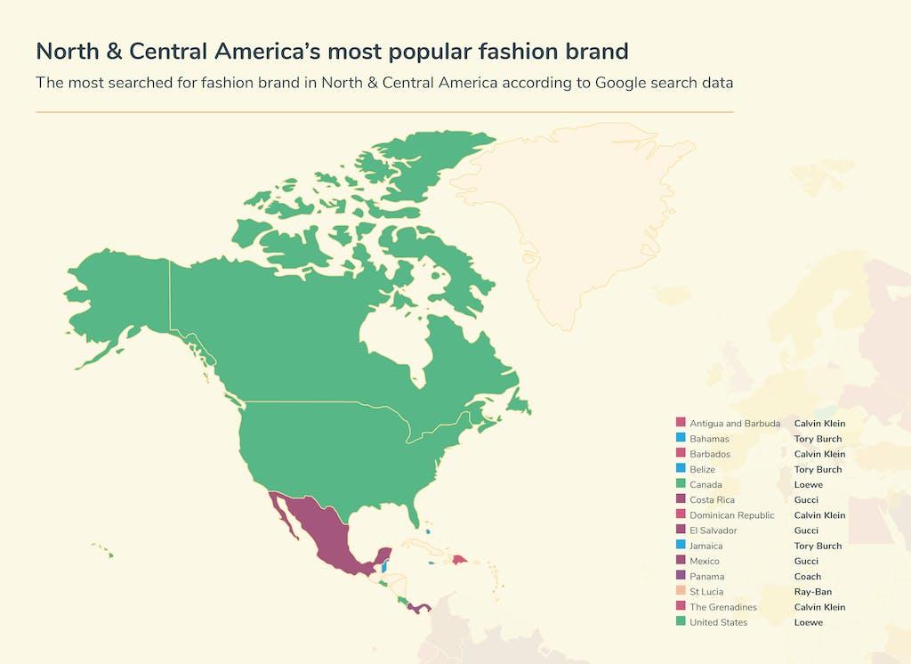 Graphic fashion searches - North and Central America