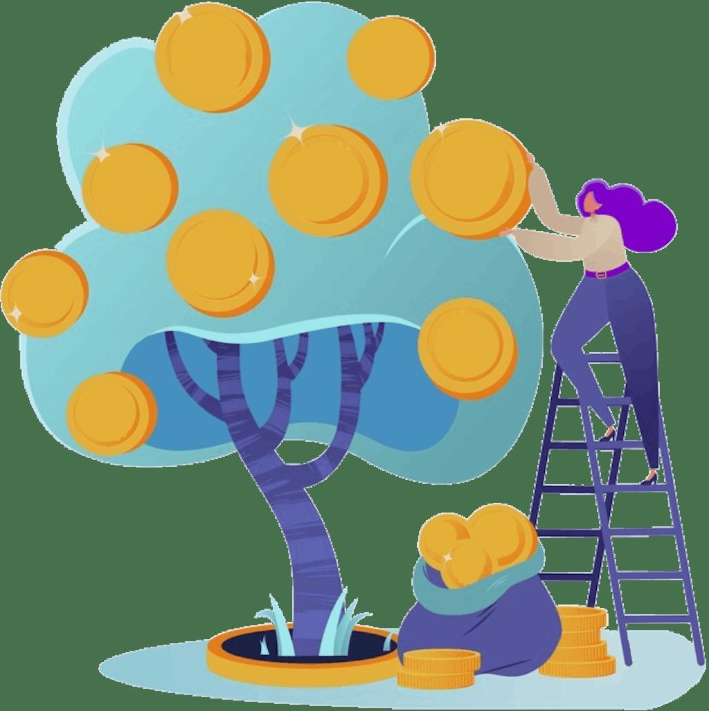 money tree illustration