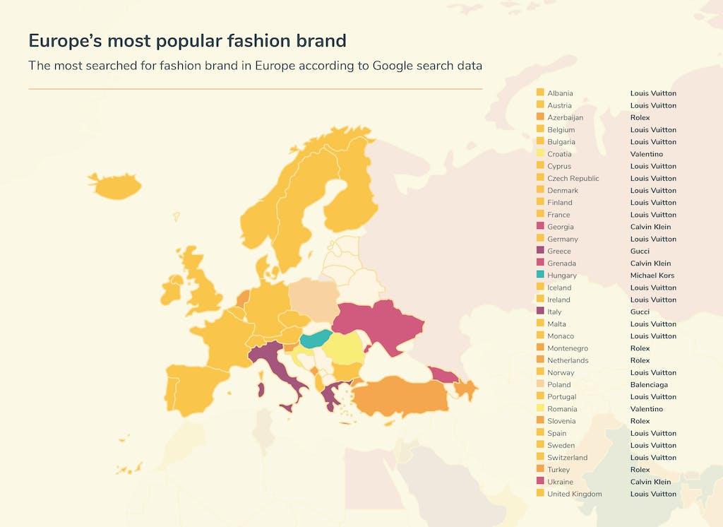 Graphic fashion searches - Europe
