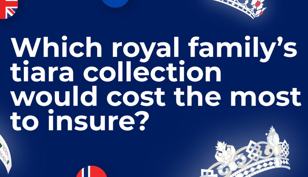 Which royal family's tiara collection would cost the most to insure?