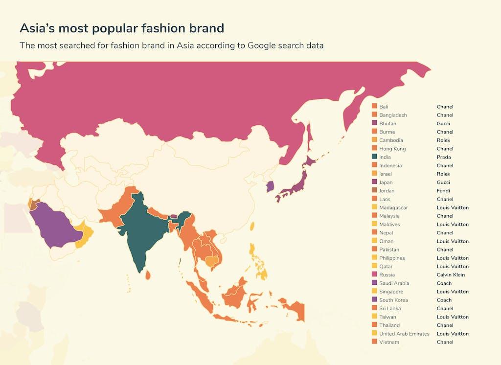 Graphic fashion searches - Asia