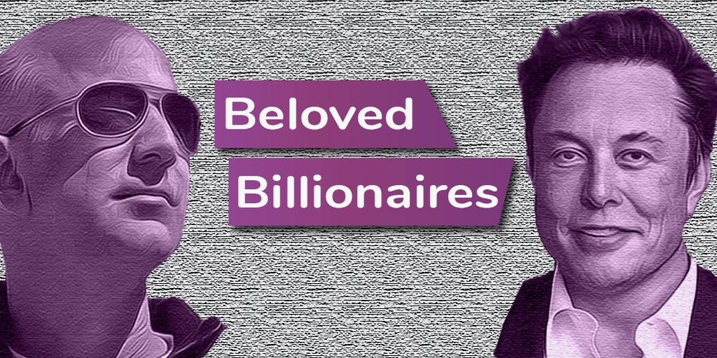 A photo of two billionaires.