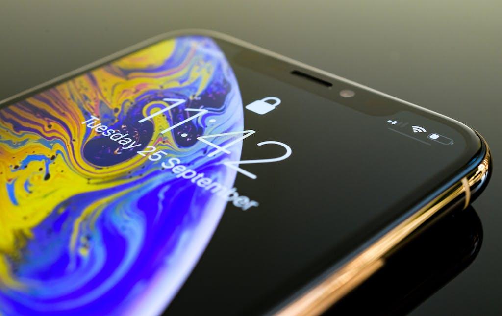 Closeup of iPhone
