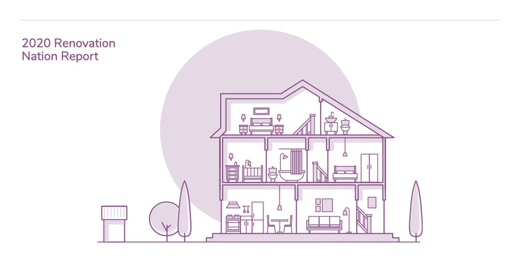 Graphic to illustrate money.co.uk Renovation Nation Report