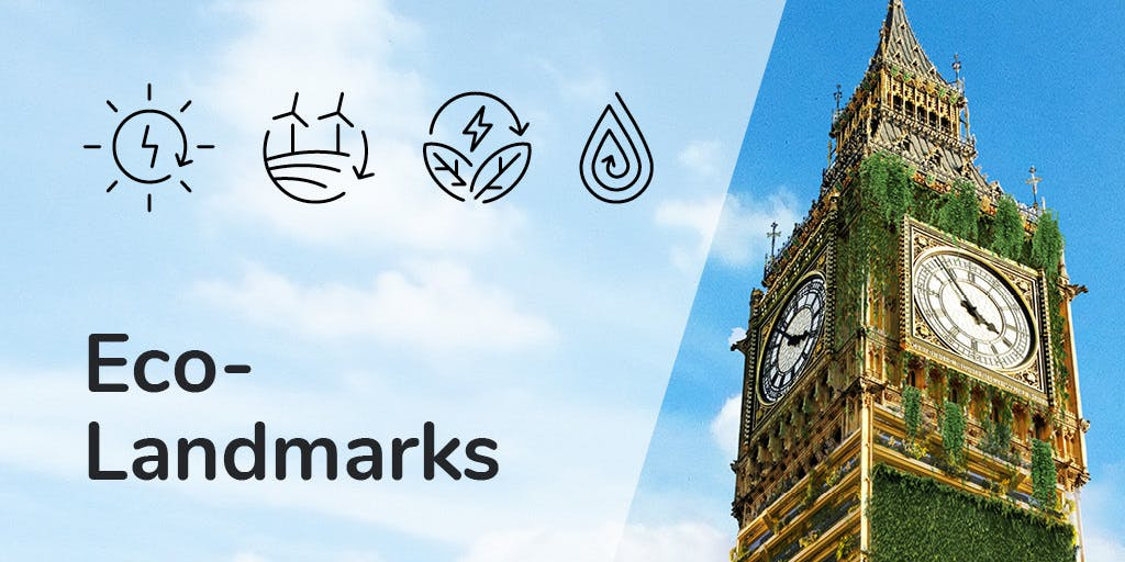 Image reading Eco-Landmarks and showing a picture of Big Ben