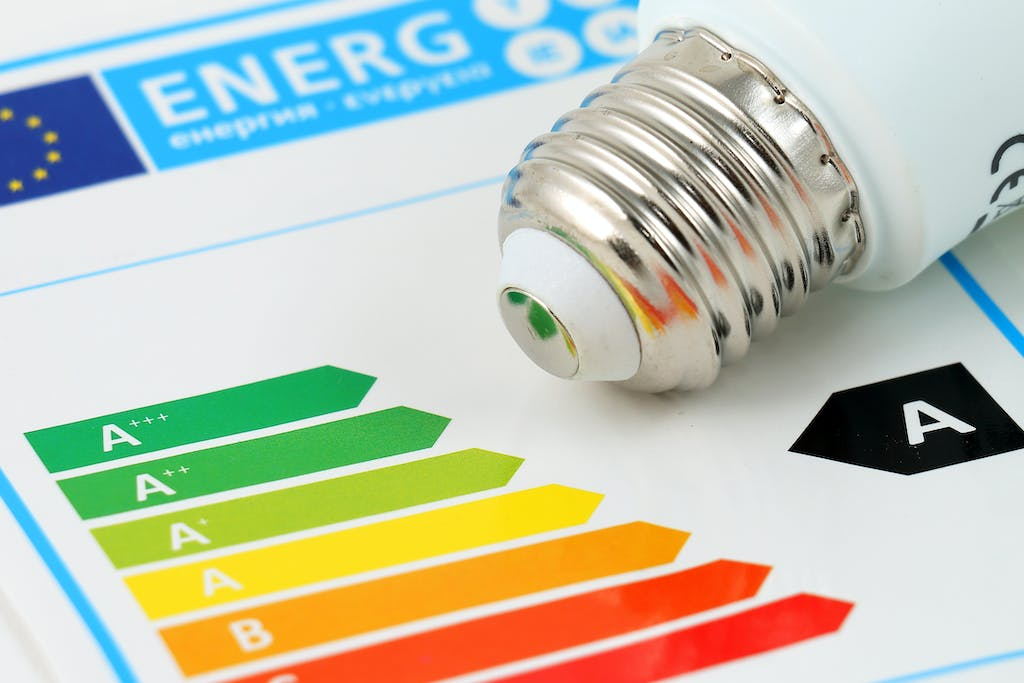 Energy Performance Certificate with a lightbulb