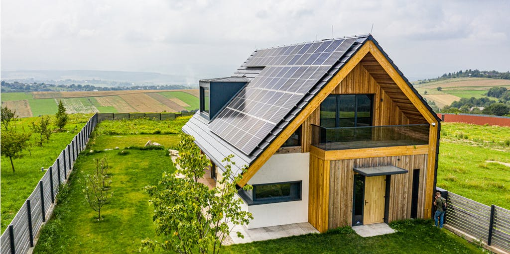 Image of an equipped Eco-friendly home