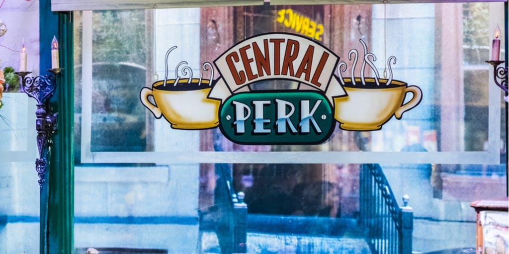 "Burbank / USA - July 2017 , ""Central Perk"" cafe set in Warner Bros studios"