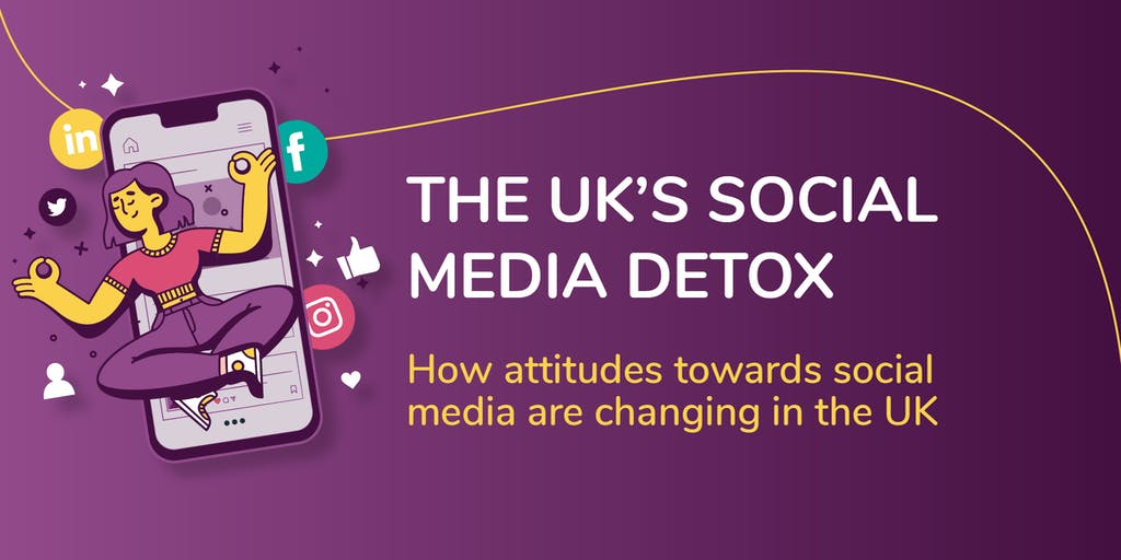 Header graphic of social media detox